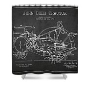 John Deer Tractor Patent Drawing From 1933 Shower Curtain