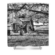 John Deere - Hay Bailing Shower Curtain