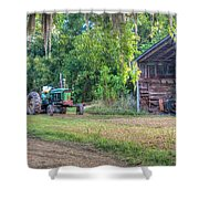 John Deere - Old Tractor Shed Shower Curtain