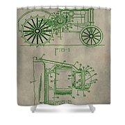 John Deere Patent Shower Curtain