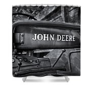 John Deere Tractor Bw Shower Curtain by Susan Candelario