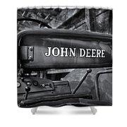 John Deere Tractor Bw Shower Curtain