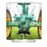 John Deere Tractor Shower Curtain