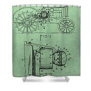 John Deere Tractor Patent Shower Curtain