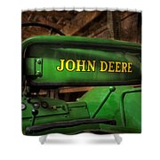 John Deere Tractor Shower Curtain by Susan Candelario