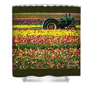 John Deere Tulips Shower Curtain