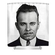 John Dillinger Mugshot Shower Curtain
