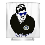 John F Kennedy Signature Wayfarer Shower Curtain by Jost Houk