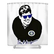 John F Kennedy Signature Wayfarer Shower Curtain