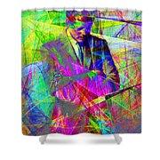 John Fitzgerald Kennedy Jfk In Abstract 20130610 Shower Curtain