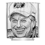 John Force In 2010 Shower Curtain by J McCombie