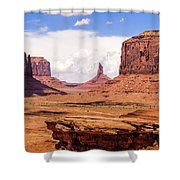 John Ford Point - Monument Valley - Arizona Shower Curtain