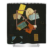 Old Time Card Rack Shower Curtain