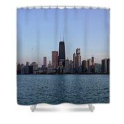 John Hancock Building And Chicago Il Skyline Shower Curtain