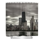 John Handcock Building From The Lake Shore Shower Curtain