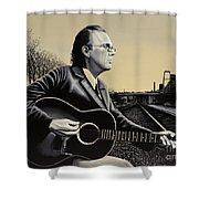John Hiatt Painting Shower Curtain