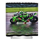 John Hopkins 2005 Motogp Red Bull Suzuki Shower Curtain