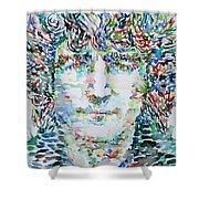 John Lennon Portrait.1 Shower Curtain