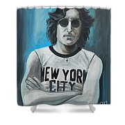 John Lennon Shower Curtain