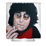 John Lennon Shower Curtain by Tom Roderick