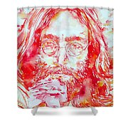 John Lennon With Rose Shower Curtain