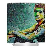John Mayer Shower Curtain