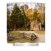 John Oliver Pioneer Cabin Shower Curtain