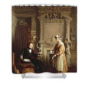 John Sheepshanks And His Maid Shower Curtain