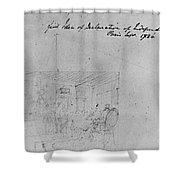 John Trumbull Sketch Shower Curtain