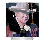 John Wayne Cardboard Cut-out In Store Window Tombstone  Arizona 2004 Shower Curtain