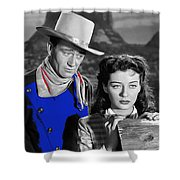 John Wayne Gail Russell Angel And The Badman  Publicity Photo 1947-2012 Shower Curtain