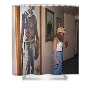 John Wayne Gallery Hondo 1953 Crystal Palace Saloon Helldorado Days Tombstone Arizona 2004 Shower Curtain