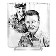 John Wayne Shower Curtain by Peter Piatt