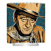 John Wayne Pop Art Shower Curtain