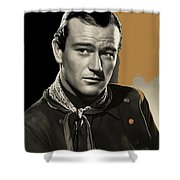 John Wayne Publicity Photo In Costume Stagecoach 1939-2013 Shower Curtain
