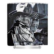 John Wayne Rio Lobo Collage Old Tucson Arizona 1970-2009 Shower Curtain