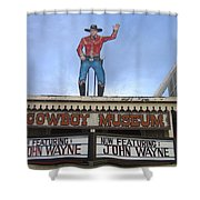 John Wayne Shuttered Cowboy Museum Close-up Tombstone Arizona 2004 Shower Curtain