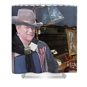 John Wayne Tall In The Saddle Homage 1944 Cardboard Cut-out  Tombstone Arizona 2004 Shower Curtain