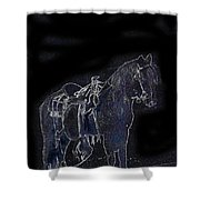 John Wayne The Horse Soldiers 1959 Homage #1 C.1880 Horse And Saddle-2009 Shower Curtain