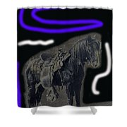 John Wayne The Horse Soldiers Homage #2 1959 C.1880 Shower Curtain