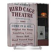John Wayne's Filmography Bird Cage Theater Tombstone Az  2004 Shower Curtain