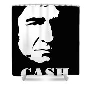 Johnny Cash Black And White Pop Art Shower Curtain