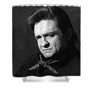 Johnny Cash Close-up The Man Comes Around Music Homage Old Tucson Az  Shower Curtain