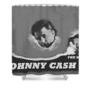 Johnny Cash Shower Curtain by David Millenheft