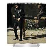Johnny Cash Horse Old Tucson Arizona 1971 Shower Curtain