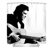 Johnny Cash Man In Black Shower Curtain