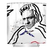 Johnny Cash Man In White Literary Homage Old Tucson Arizona 1971-2008 Shower Curtain
