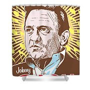 Johnny Cash Pop Art Shower Curtain