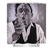 Johnny Cash Portrait Shower Curtain