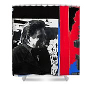 Johnny Cash  Smiling Collage 1971-2008 Shower Curtain